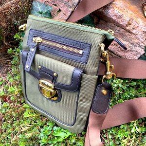 French designer nylon crossbody bag olive green